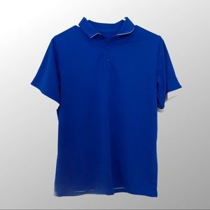 Nike Golf DRI-FIT Youth Blue Golf Shirt Large